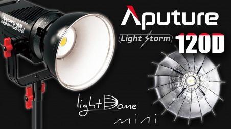 Обзор Aputure LS120D. Обзор Aputure Light Dome Mini и насадки Френеля.